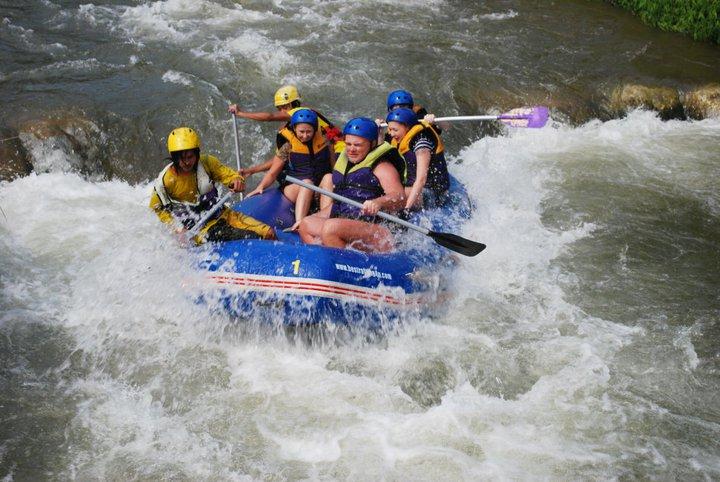 Phuket whitewater rafting tour